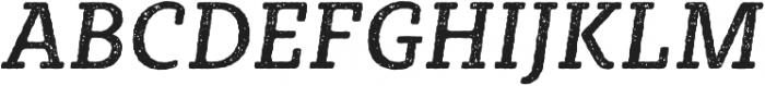 Sybilla Rust Pro Narrow Regular Italic otf (400) Font UPPERCASE