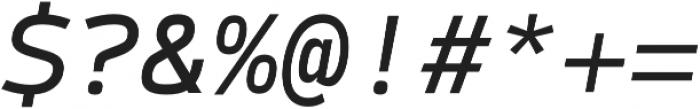 Syke Mono Italic otf (400) Font OTHER CHARS