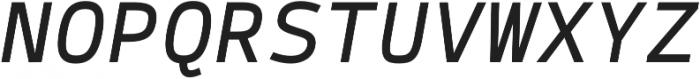 Syke Mono Italic otf (400) Font UPPERCASE