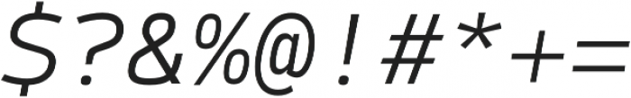 Syke Mono Light Italic otf (300) Font OTHER CHARS