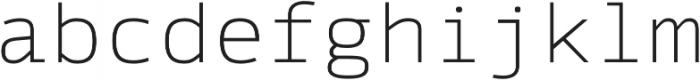 Syke Mono Thin otf (100) Font LOWERCASE