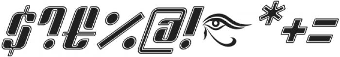 Sympathetic 04 Body Inline Italic otf (400) Font OTHER CHARS
