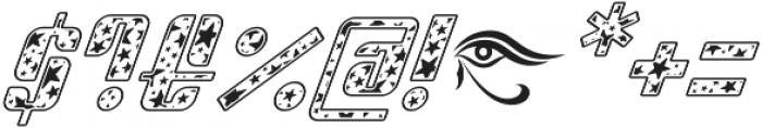 Sympathetic 06 Star Italic otf (400) Font OTHER CHARS
