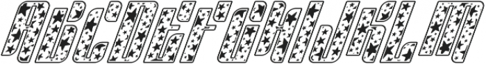 Sympathetic 06 Star Italic otf (400) Font UPPERCASE