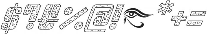 Sympathetic 09 Heart Line Italic otf (400) Font OTHER CHARS