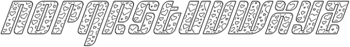Sympathetic 09 Heart Line Italic otf (400) Font LOWERCASE
