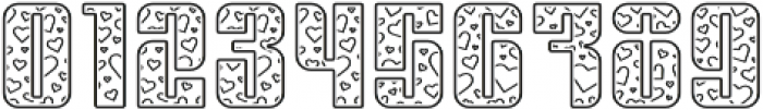 Sympathetic 09 Heart Line otf (400) Font OTHER CHARS
