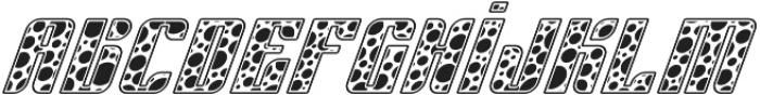 Sympathetic 10 Circle Italic otf (400) Font LOWERCASE