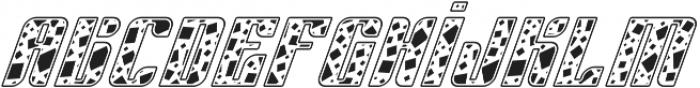 Sympathetic 12 Square Italic otf (400) Font LOWERCASE