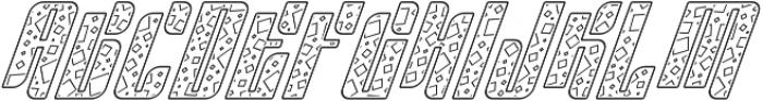 Sympathetic 13 Square Line Italic otf (400) Font UPPERCASE
