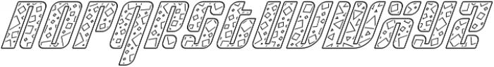 Sympathetic 13 Square Line Italic otf (400) Font LOWERCASE