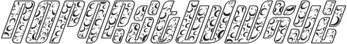 Sympathetic 16 Moon Italic otf (400) Font UPPERCASE