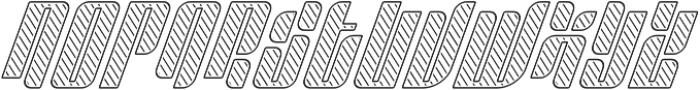 Sympathetic 20 Slant Left Line Italic otf (400) Font UPPERCASE