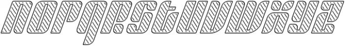 Sympathetic 20 Slant Left Line Italic otf (400) Font LOWERCASE