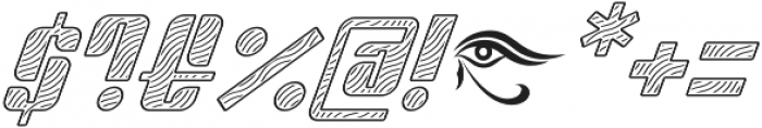 Sympathetic 22 Wavy Line Italic otf (400) Font OTHER CHARS