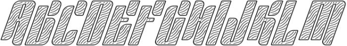 Sympathetic 22 Wavy Line Italic otf (400) Font UPPERCASE