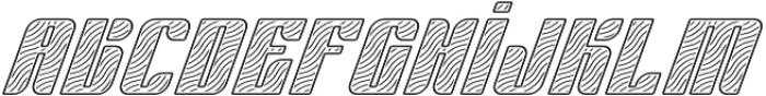 Sympathetic 22 Wavy Line Italic otf (400) Font LOWERCASE