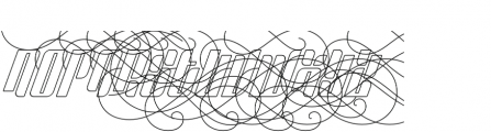 Sympathetic 24 Ornamental Italic otf (400) Font UPPERCASE