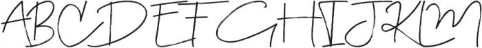Symphoniesta Upright otf (400) Font UPPERCASE