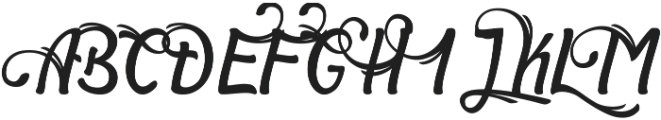 Symphony Alternate ttf (400) Font UPPERCASE