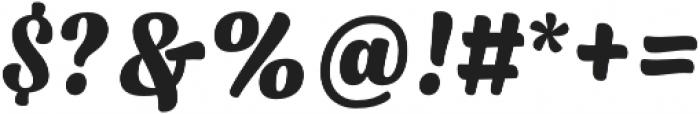 Syrup Script Bold otf (700) Font OTHER CHARS