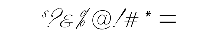 SybarisOpti Font OTHER CHARS