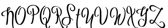 Sybelia Demo Font UPPERCASE