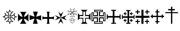SymbolCrucifix Font LOWERCASE