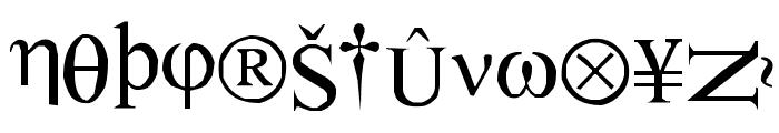 SymbolNerve Font UPPERCASE