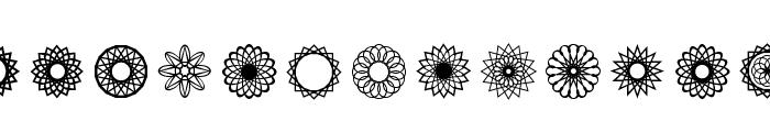 Symmetric Things 2 Font LOWERCASE