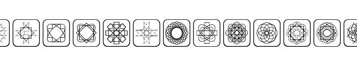 Symmetric Things Font UPPERCASE