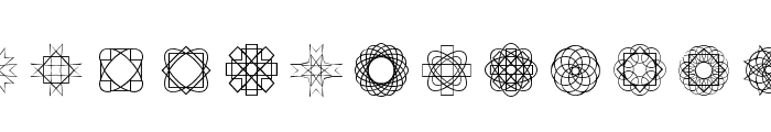 Symmetric Things Font LOWERCASE