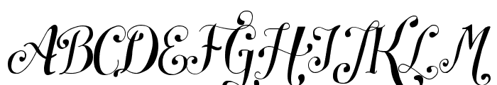 Symphony Script - personal use Font UPPERCASE