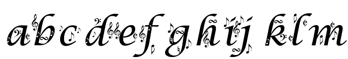 Symphony in ABC Font LOWERCASE