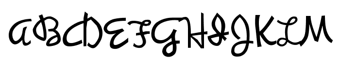 Synchronous Font UPPERCASE