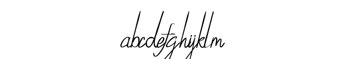 SynthiaRegular Font LOWERCASE