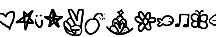 symbols rock Font LOWERCASE