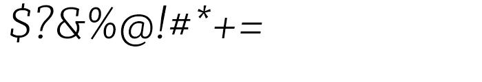 Sybilla Thin Italic Font OTHER CHARS