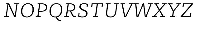 Sybilla Thin Italic Font UPPERCASE