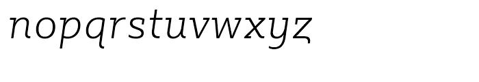 Sybilla Thin Italic Font LOWERCASE