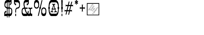 Syondola Regular Font OTHER CHARS