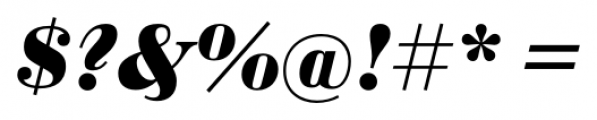 Sybarite Small Italic Font OTHER CHARS