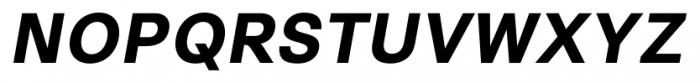 Synthese Bold Oblique Font UPPERCASE