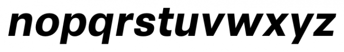 Synthese Bold Oblique Font LOWERCASE