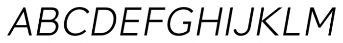 Synthese Light Oblique Font UPPERCASE