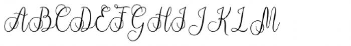 Syarlina Regular Font UPPERCASE