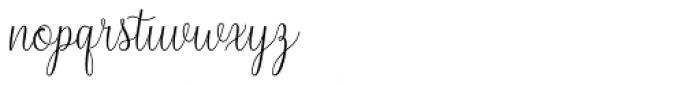 Syarlina Regular Font LOWERCASE
