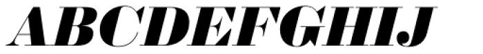 Sybarite Huge Italic Font UPPERCASE