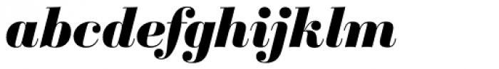 Sybarite Large Italic Font LOWERCASE