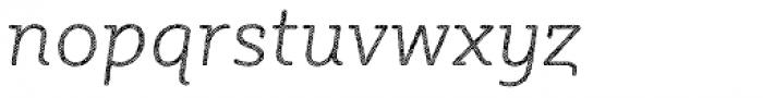 Sybilla Hatch Pro Thin Italic Font LOWERCASE